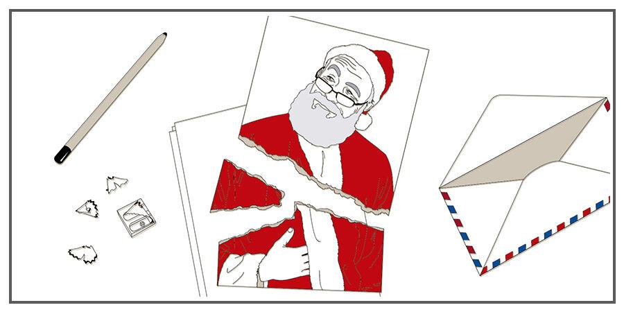 Lieber Weihnachtsmann, dies ist eher eine Drohung als ein Wunschzettel