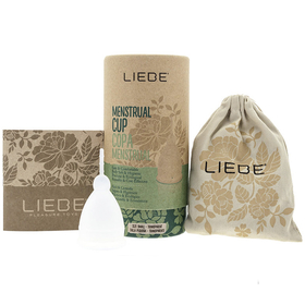 Liebe Menstrual Cup (Transparent and Size S)