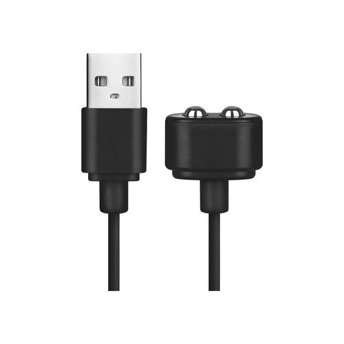 Câble Chargeur Magnétique Noir avec Prise USB pour Satisfyer