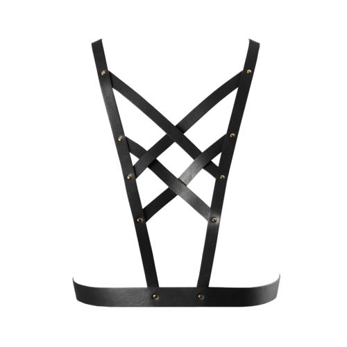 Bijoux Indiscrets Maze Arnés Cruzado en Escote Color Negro
