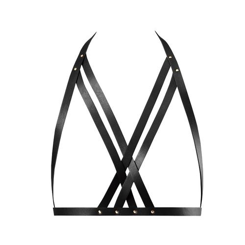 Bijoux Indiscrets Maze Sujetador con Correas Color Negro
