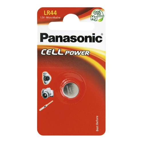 Panasonic Cell Power LR44 Pilhas