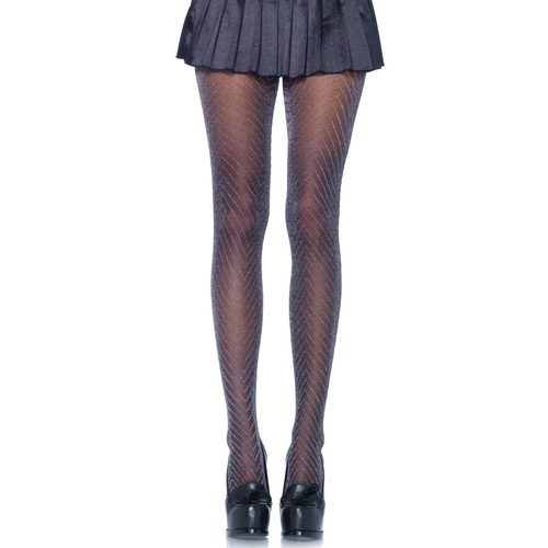 Leg Avenue Collant Zigzag Lurex