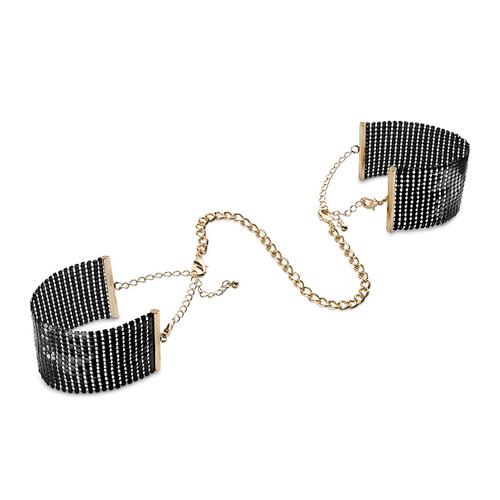 Bijoux Indiscrets Désir Métallique Negro Esposas de Malla Metálica